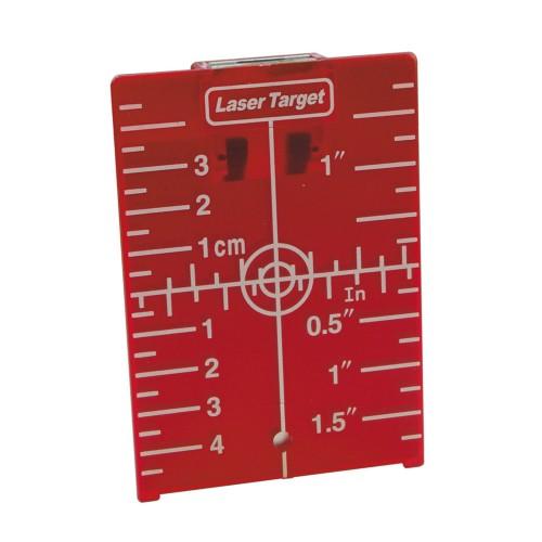 Accesorio láser , tablilla con diana magnética roja