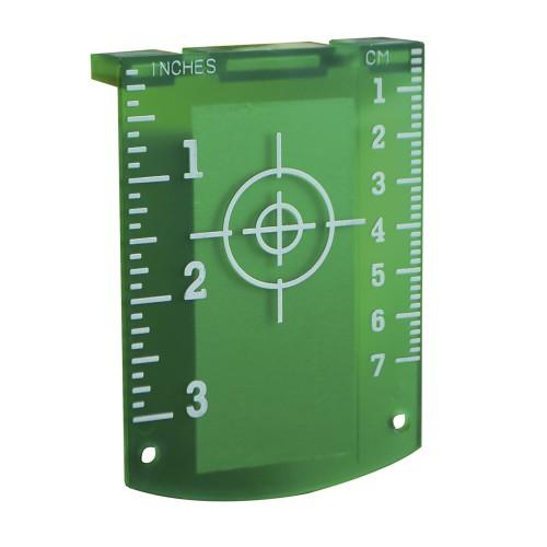 Accesorio láser, tablilla con diana magnética verde