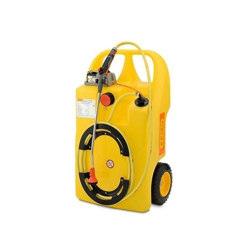 Carretilla de agua con sistema de aspersión eléctrica y batería Aqua-Caddy 60 litros