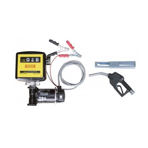 Bomba eléctrica 12V diésel cematic 3000/12 K33 AZ. Juego completo con contador de litros K33