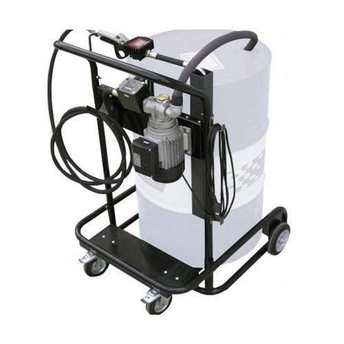 Bomba eléctrica para lubricación móvil con porta bidones