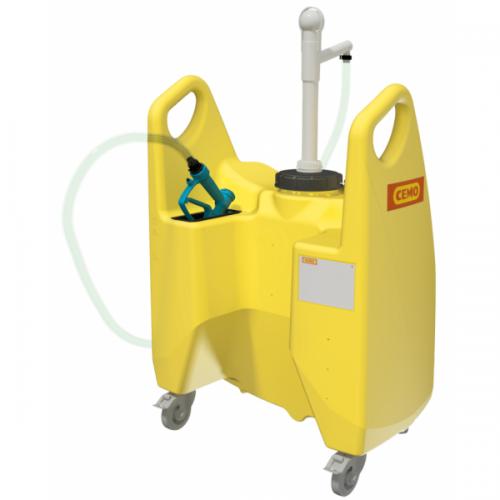 Carrito de riego Aqua 130 litros con bomba manual