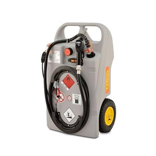 Depósito carretilla 100 litros de gasoil con bomba eléctrica 12 V