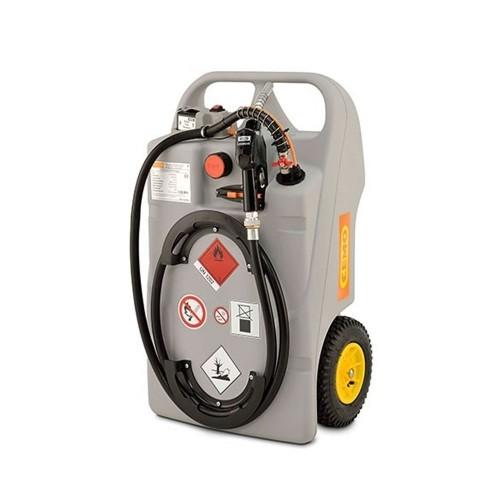 Depósito carretilla 100 litros de gasoil con bomba eléctrica y batería LiFePO4