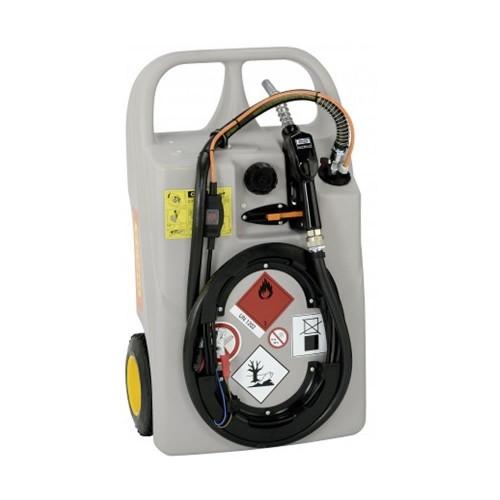 Depósito carretilla 60 litros de gasoil con bomba eléctrica 12 V