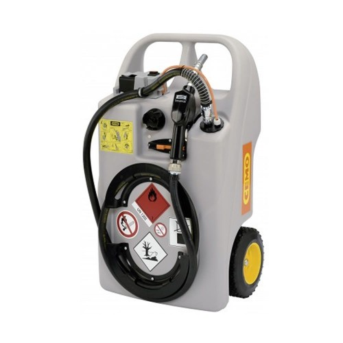 Depósito carretilla 60 litros de gasoil con bomba eléctrica y batería LiFePO4