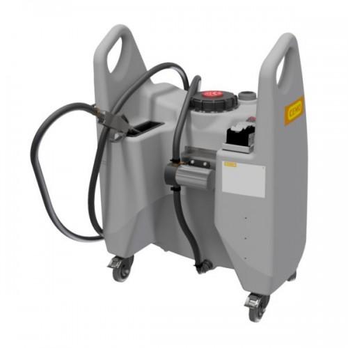 Carretilla Trolley para Aceite 130 litros, con bomba, batería, cargador y pistola de suministro de aceite