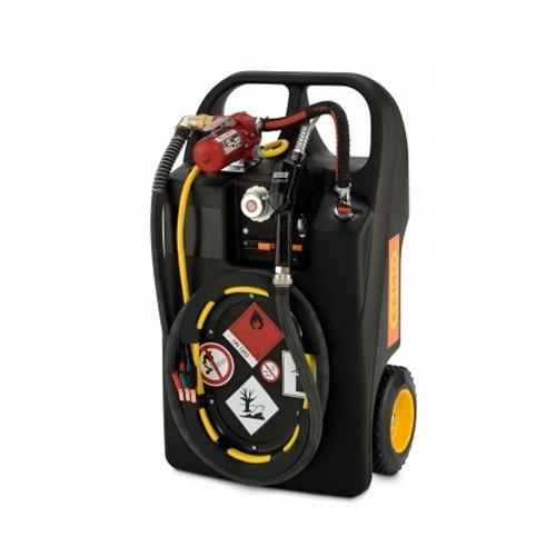 Carretilla para Gasolina 60 litros con bomba eléctrica