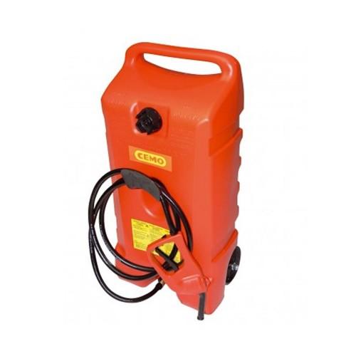 Carretilla para Gasolina 53 litros con bomba y pistola de repostaje