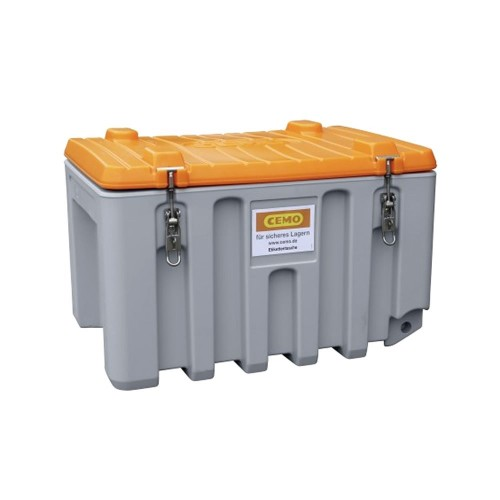 Baúl contenedor caja almacenaje CEMbox 150 l gris/naranja