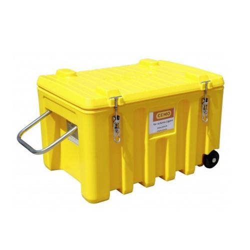 Baúl contenedor caja almacenaje carretillla CEMbox 150 l amarillo