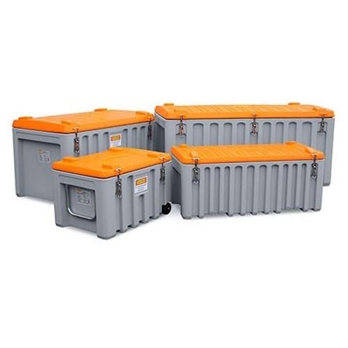 Baúl contenedor caja almacenaje carretillla CEMbox 150 l gris/naranja