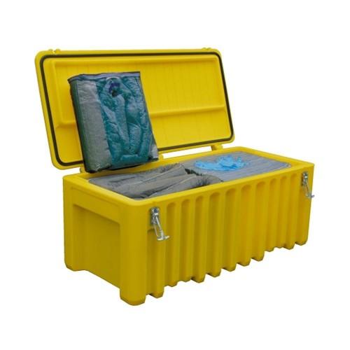 Baúl contenedor de emergencias absorbentes Cemsorb 250 l