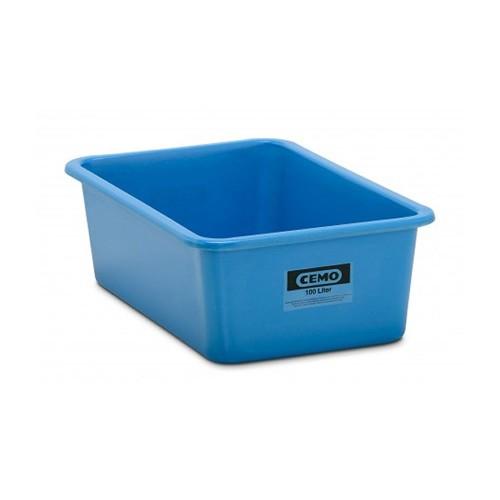 Contenedor GRP rectangular 100 litros modelo estándar azul