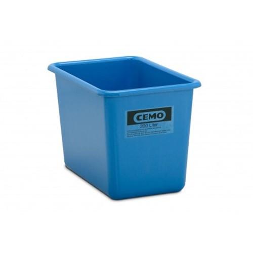 Contenedor GRP rectangular 200 litros modelo alto estándar azul
