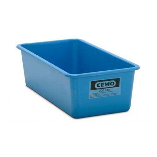 Contenedor GRP rectangular 200 litros modelo plano estándar azul
