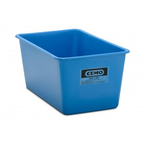 Contenedor GRP rectangular 300 litros modelo estándar azul