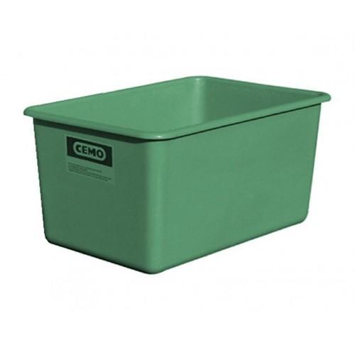 Contenedor GRP rectangular 500 litros modelo plano estándar verde