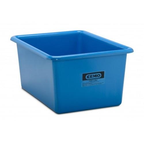 Contenedor GRP rectangular 550 litros modelo estándar azul