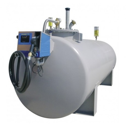 Depósito de acero 10000 litros gasoil con bomba 230 V, CUBE 70 K33