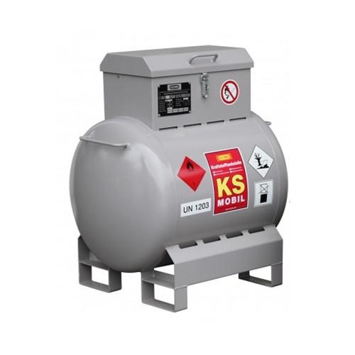 Depósito gasolina de acero 200 litros, bomba manual, homologación ADR