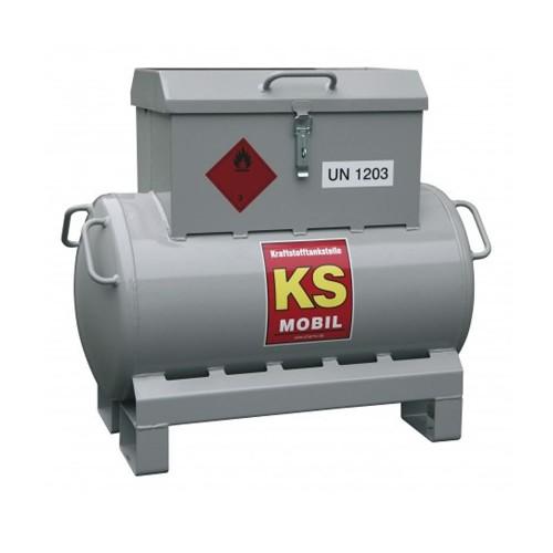 Depósito gasolina de acero 90 litros, bomba manual, homologación ADR