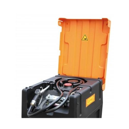 Depósito gasolina 120 litros con bomba manual y cubierta