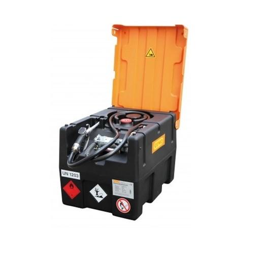 Depósito gasolina 190 litros con bomba manual y cubierta