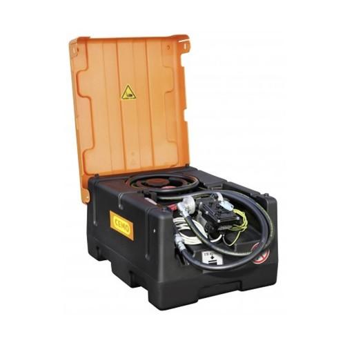 Depósito gasolina 120 litros con bomba eléctrica y cubierta