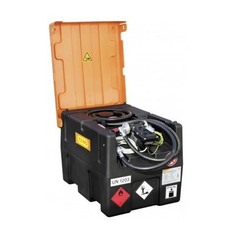 Depósito gasolina móvil 190 litros con bomba eléctrica y cubierta