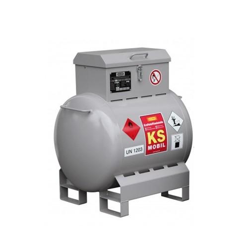 Depósito de gasolina móvil de acero inoxidable 200 litros con bomba eléctrica y homologación ADR ATEX