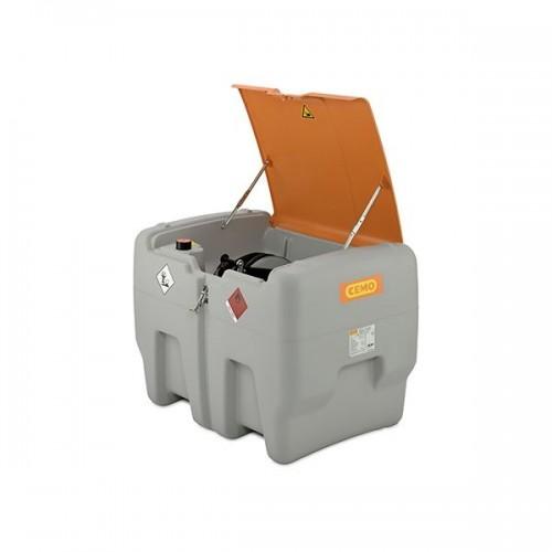 Depósito diésel 440 litros Premium con bomba eléctrica 12 V, contador K24, manguera 8 metros y tapa abatible