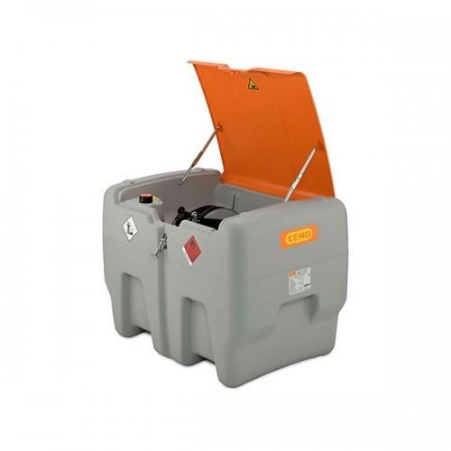 Depósito diésel 440 litros Premium con bomba eléctrica 24 V, contador K24, manguera 8 metros y tapa abatible