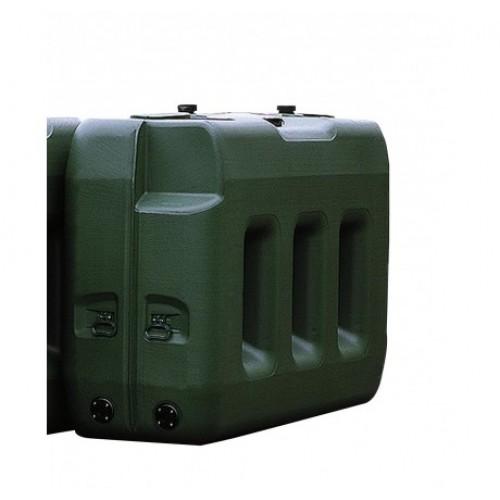 Depósito de polietileno 2000 litros para almacenaje, modelo largo