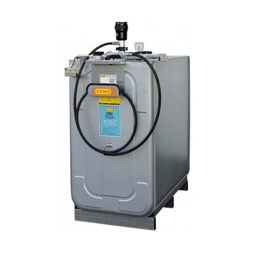 Depósito HDPE 750 litros con bomba neumática para lubricantes (Aceite)