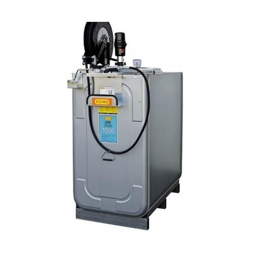 Depósito HDPE 750 litros con bomba neumática para lubricantes (Aceite) más carrete