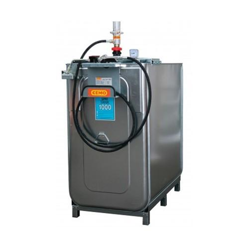 Depósito HDPE 1000 litros con bomba neumática para lubricantes (Aceite)