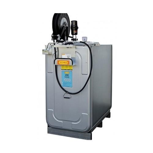 Depósito HDPE 1000 litros con bomba neumática para lubricantes (Aceite) más carrete