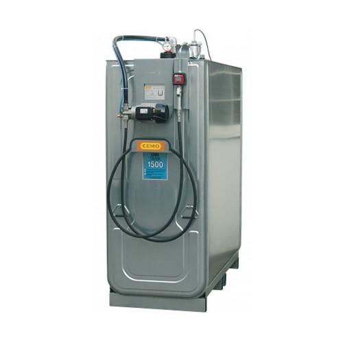 Depósito HDPE 1500 litros con bomba eléctrica para lubricantes (Aceite)