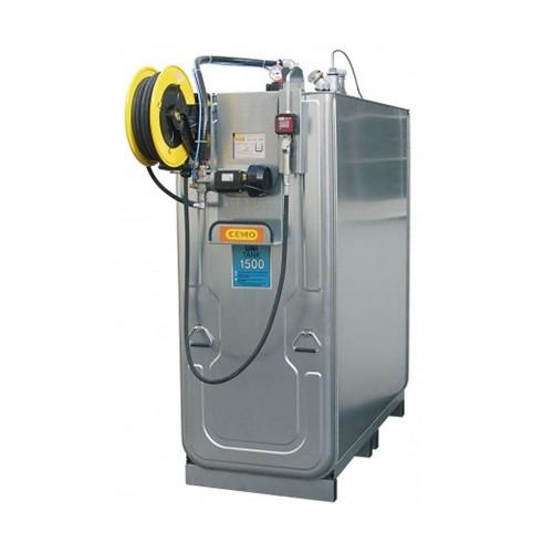 Depósito HDPE 1500 litros con bomba eléctrica para lubricantes (Aceite) más carrete