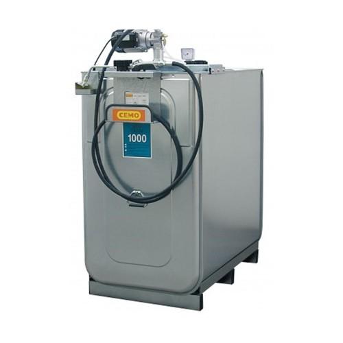 Depósito HDPE 750 litros con bomba eléctrica para lubricantes (Aceite)