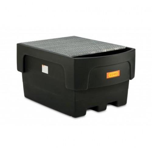 Cubeto IBC 1100 / 1 PE con rejilla de acero galvanizada