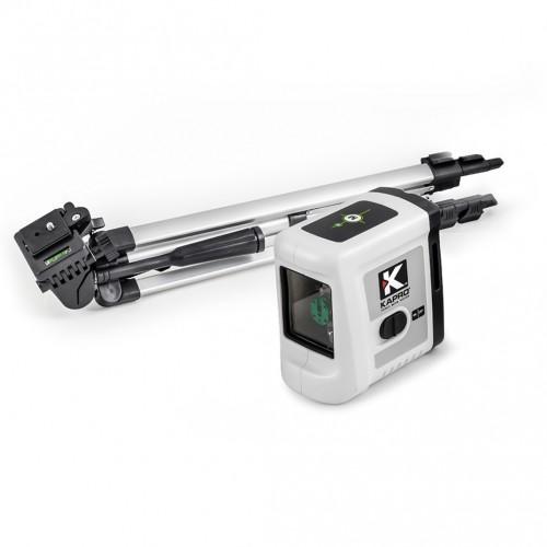 Nivel láser de líneas verde Set Kapro 862 Prolaser® Cross Line Laser Green