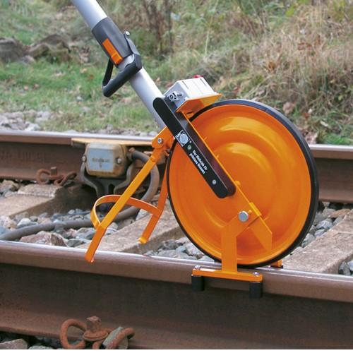 Guía rueda de medición para vías férreas