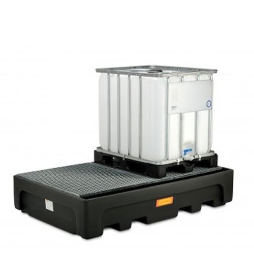 Cubeto IBC 1100 / 2 PE con rejilla de acero galvanizada