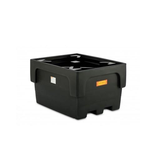 Cubeto IBC 1100 / 1 PE con cruces de soporte