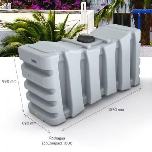 Depósito de agua potable 1000 litros cerrado EcoCompact