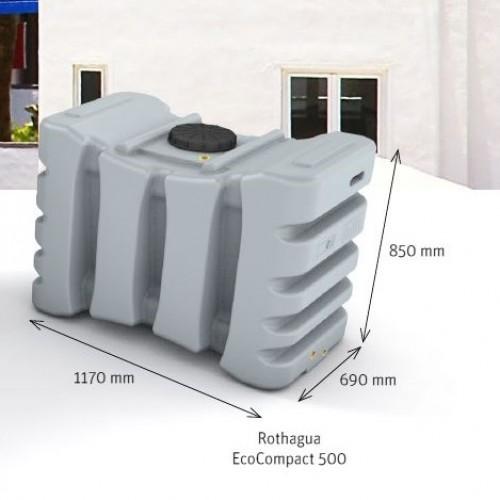 Depósito de agua potable 500 litros cerrado EcoCompact